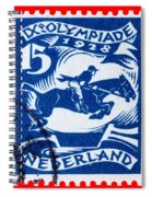 Old Dutch Postage Stamp Spiral Notebook