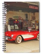 Route 66 Corvette Spiral Notebook