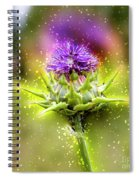 Silybum Eburneum Milk Thistle Spiral Notebook