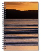 Sunrise Seascape And Headland Spiral Notebook