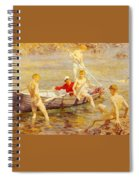Tuke Henry Scott Ruby Gold And Malachite Henry Scott Tuke Spiral Notebook