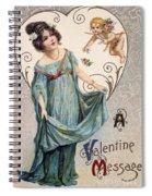 Valentines Day Card Spiral Notebook