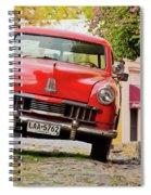 Vintage Car In Colonia Del Sacramento, Uruguay Spiral Notebook