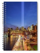 911 Tribute In Light In Nyc II Spiral Notebook