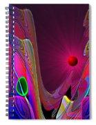 918 Evening Glow 2017 V Spiral Notebook