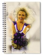 A Baltimore Ravens Cheerleader  Spiral Notebook