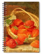 A Basket Of Strawberries On A Stone Ledge Spiral Notebook
