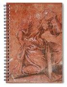 A Bearded Saint Kneeling Spiral Notebook