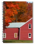 A Beautiful Country Building In The Fall 2 Spiral Notebook