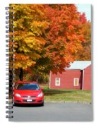 A Beautiful Country Building In The Fall 4 Spiral Notebook