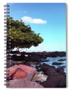 A Beautiful View Of The Sea From Mauritius Spiral Notebook