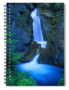 A Beautiful Waterfall, Johnston Canyon Spiral Notebook