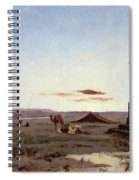 A Bedouin Encampment By A Ruined Temple  Spiral Notebook