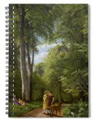 A Beech Wood In May Near Iselingen Manor Spiral Notebook
