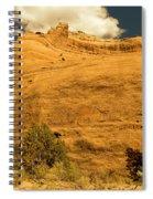 A Big Mountainous Rock On The Gemini Trail Moab Utah  Spiral Notebook