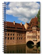 A Big Sky Over Old Architecture Spiral Notebook