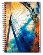 A Big Wheel Roller Coaster Ride Under A Sunset Spiral Notebook