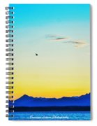 A Bird In The Sky At Sunset Spiral Notebook