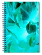 A Bloom In Turquoise Spiral Notebook
