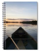A Boat And Paddle On A Tranquil Lake Spiral Notebook