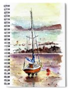 A Boat On Anglesey 01 Spiral Notebook