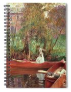 A Boating Party  Spiral Notebook