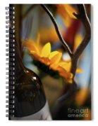 A Bottle And Sunflowers Spiral Notebook