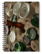 A Bottle In The Wall Spiral Notebook