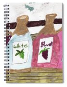 A Bottle Of Red Spiral Notebook
