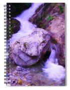 A Boulder Splitting The Rocks Spiral Notebook