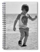 A Boy And His Beach Spiral Notebook
