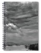A Break In The Storm Bw Spiral Notebook