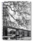 A Bridge In Winter Spiral Notebook