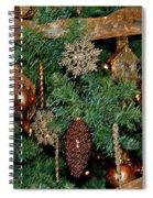 A Bronze Christmas Spiral Notebook