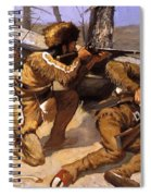 A Brush With The Redskins 1891 Spiral Notebook