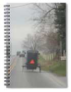 A Buggy Travels Down A Road In Spring Spiral Notebook
