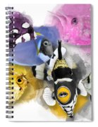 A Bunch Of Colorful Fish No 01 Spiral Notebook