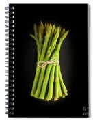 A Bunch Of Fresh Asparagus. Spiral Notebook