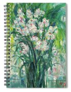 A Bunch Of Orchid Paintings Spiral Notebook