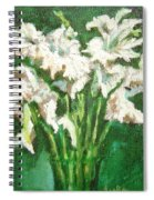 A Bunch Of White Gladioli Spiral Notebook