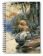 A Camp Site By The Lake Spiral Notebook