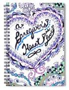 A Caring Heart Spiral Notebook