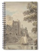 A Castle On A River Spiral Notebook