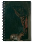 A Cat At The Window Of A Painters Studios 1657 Spiral Notebook