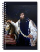 A Cat For Rembrandt_ Aristotle Caresses Calliope Spiral Notebook