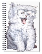 A Cat With Glasses Spiral Notebook