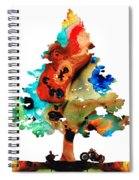 A Certain Kind Of Freedom - Guitar Motorcycle Art Print Spiral Notebook