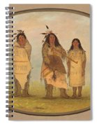 A Cheyenne Chief His Wife And A Medicine Man Spiral Notebook