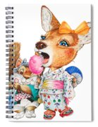 A Child Deer And Squirrel At The Summer Festival Spiral Notebook