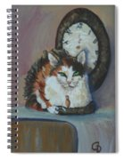 A Clockwork Cat Spiral Notebook